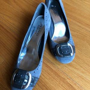 Franco Sarto grey suede/patent pumps. Never worn!